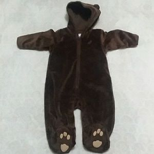 Baby Gap bear onesie zip up
